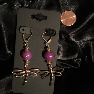 Dragonfly Gold Earrings